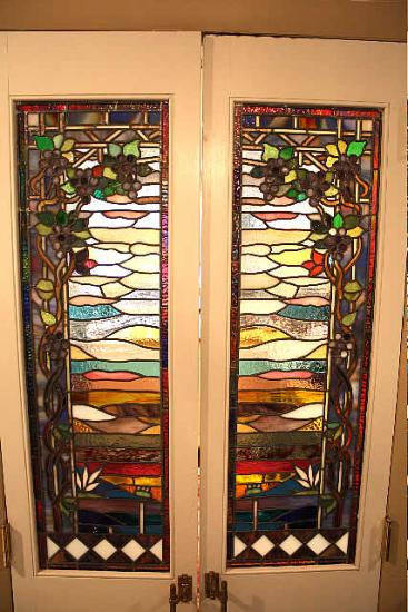 Luxury Stained Glass Cabinet Doors Painting