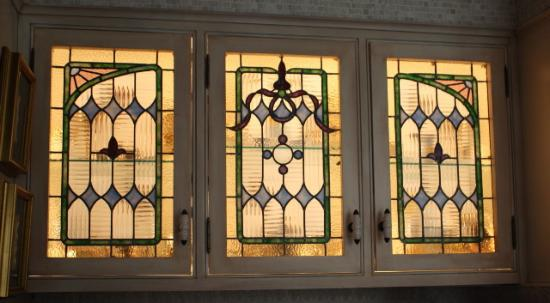 Stained Gl Cabinet Inserts By Powell Serving The
